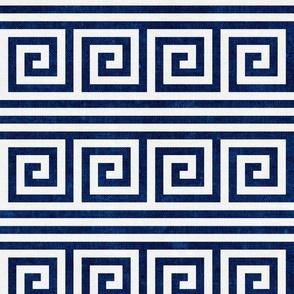 Greek key stripes - royal - LAD20