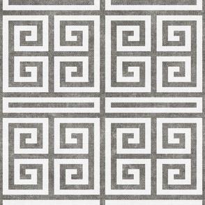 Greek key  - grey - LAD20