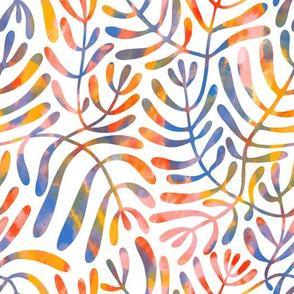 Abstract botanical watercolor