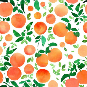 Oranges pattern-white