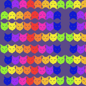 Lg. Rainbow Cats by DulciArt,LLC