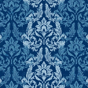 "Vintage Pattern, blue, 16.5"""