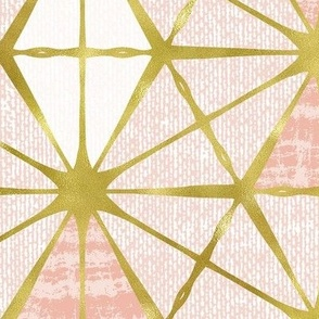 Luminous - Gilded Blush Pink Geometric Jumbo Scale