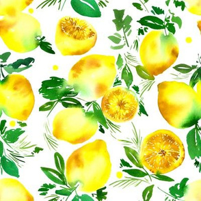 Yellow Lemons pattern