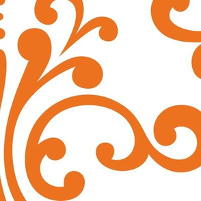XXL damask reversed orange