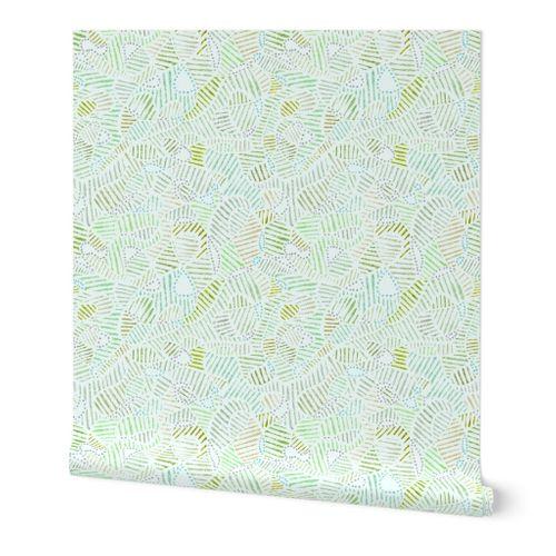 Swirls textured light green (small)