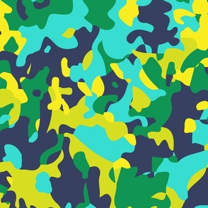 Camouflage in Blues and Greens