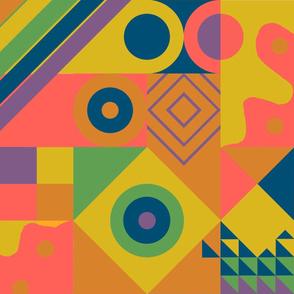 Bauhaus blocks - rainbow big