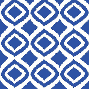 Prism Collection navy ikat pattern