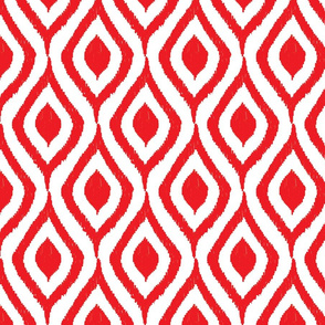 Prism Collection red ikat pattern swirl
