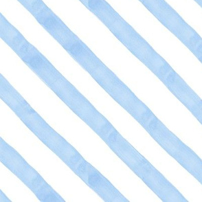 Pastel Blue Watercolor Strip