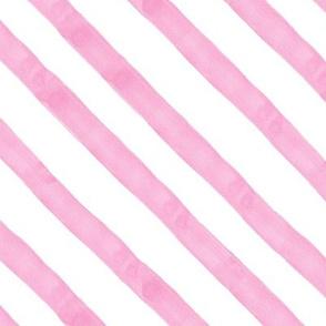 Pastel Pink Watercolor Stripes