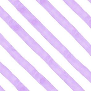 Pastel Purple Watercolor Stripes