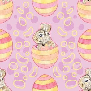 Striped Easter Egg Bunny Rabbits