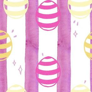 Striped Easter Eggs Magenta