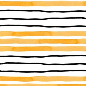 Wriggly Yellow and Black Stripes