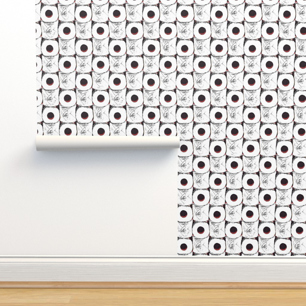 Isobar Durable Wallpaper featuring Toilet paper crisis by dustydiscoball
