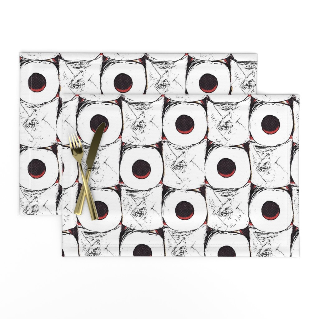 Lamona Cloth Placemats featuring Toilet paper crisis by dustydiscoball