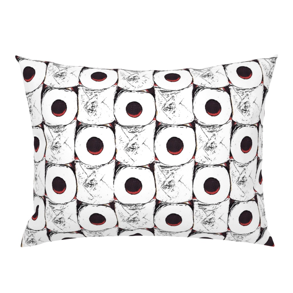 Campine Pillow Sham featuring Toilet paper crisis by dustydiscoball