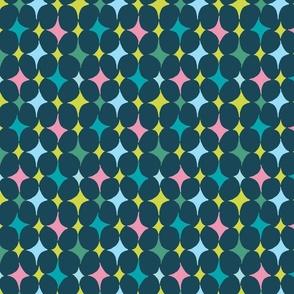 diamonds in rows on dark blue