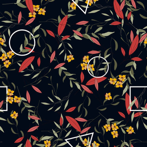 Botany and geometry pattern - Large Size
