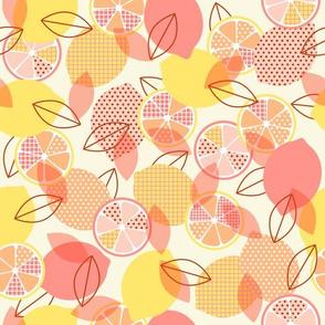 pop art lemon - orange