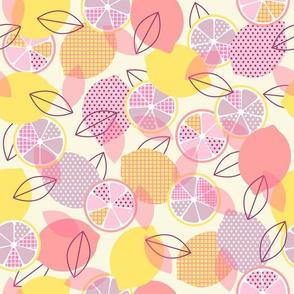 pop art lemons - pastel