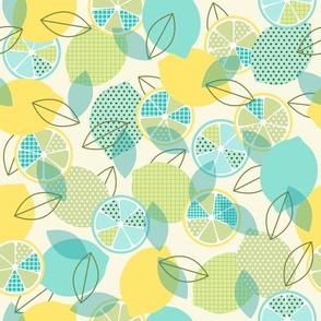 pop art lemons - mint