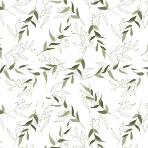 Trendy green tropical leaves