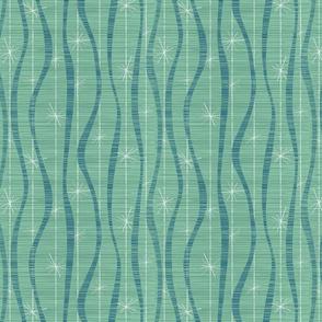 Ribbons and Stars Aqua