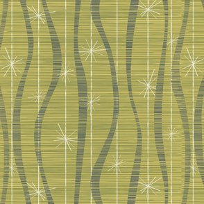 Ribbons and Stars green gold