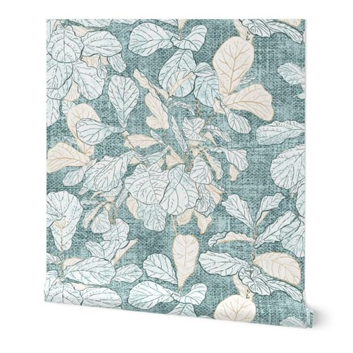 "Fiddle-leaf Fig Stucco (pine) 18"""