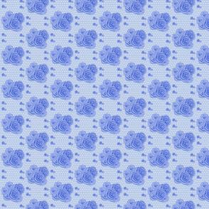 rosen in dots blue