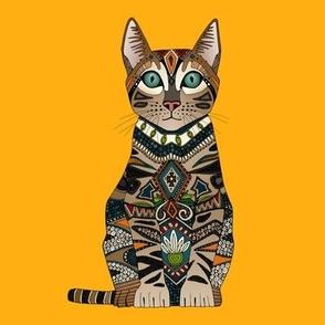 bengal cat saffron swatch