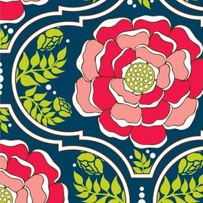 Yogita : India Floral Rouge Bloom