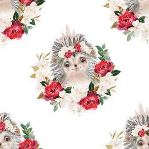 "red rose magnolia hedgehog - 5"" wide"