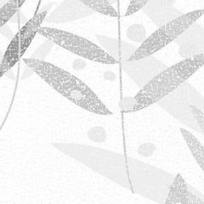 Textured Grey Flora
