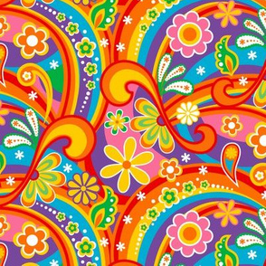 1960_Psychedelic Flower Power 67% Size