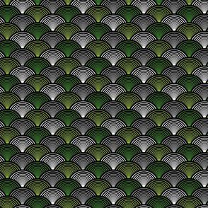 Fan Pattern Green Small