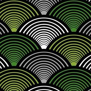 Fan Pattern Green Medium