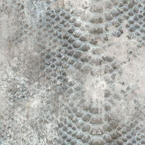 Snake skin texture on concrete