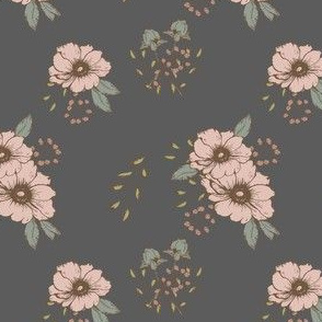 BLUSH FLORAL IN NAVY