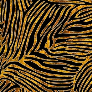 TIGER STRIPES WITH GOLD