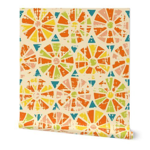 Textured Sunburst Tiles