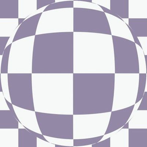 JP35 -  Large Scale - Bubbly Op Art Checks in Nearly White and  Violet Blue
