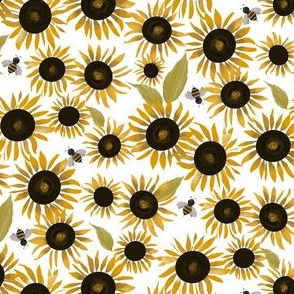 Sunflowers & Bumble Bees|Country Girl|Renee Davis