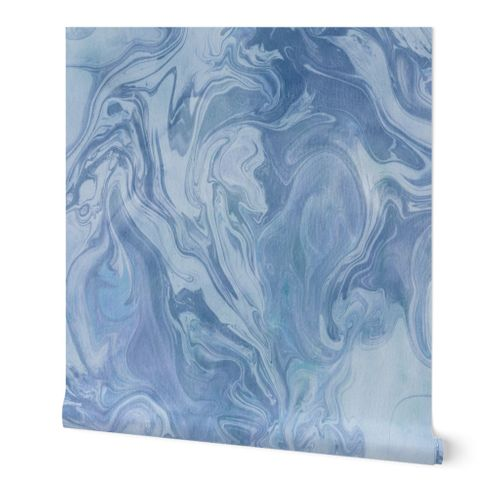 Cool blue marbling