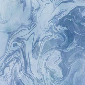 Cool blue marbling