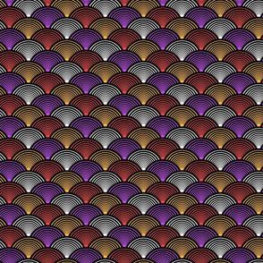 Fan Pattern Red Small