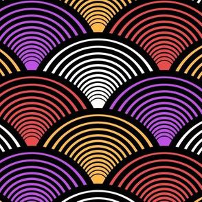 Fan Pattern Red Medium